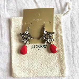 JCrew Pink Ball Drop Earrings